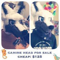 Fursuit Head for Sale ($125) by kyubees