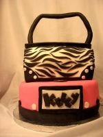 Zebra Purse B-Day Cake by CrystalSanteria