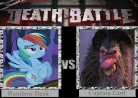 DEATH BATTLE: Rainbow Dash vs Captain Gutt by HunterxColleen