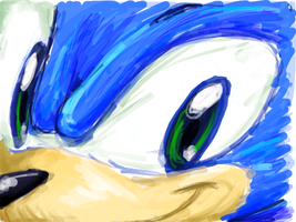 thanks DSi - Sonic face by Rush88