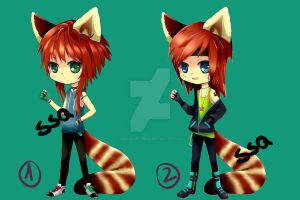 Red Panda adoptables [OPEN] by ssq-adoptables