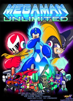 MegaMan Unlimited - Cover Art by MegaPhilX