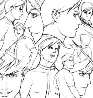 Sketch compilation Lethan by Tohad
