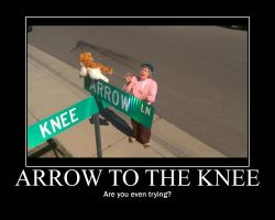 Smosh Arrow to the Knee Motivator by htfman114