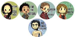 Teen Wolf Buttons 2015 by caly-graphie
