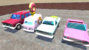 Simpsons Hit and Run Cars 1 by Jason278