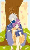 Kakashi and Anko : Spring 2010 by KickBass77
