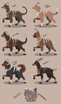 Houndoom Breeds by GrolderArts