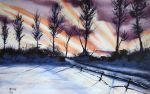 Winter Stroll Wallpaper by Clu-art