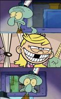 Squidward Spotted Lola Loud by funnytime77