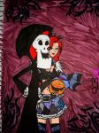 Grim, Ariel  and Jack O'Lantern by missnene1