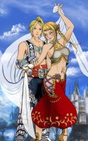 Vaan and Penelo by odinforce23