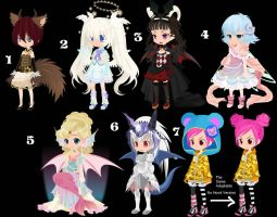 All species Girls Offer to Adopt OPEN by AdoptableSoulxHeart