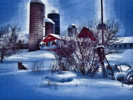 THE FARM IN WINTER by peterpulp