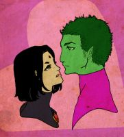 Heart: Raven and Beast Boy by storytellersdaughter