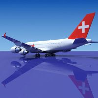 3D Airbus 380 Swiss Air by Gandoza