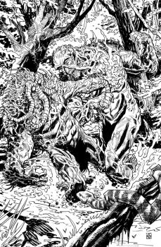 Swamp Thing versus Man-thing by deankotz