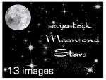 Moon and Stars Images by seiyastock