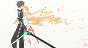 Kirito and Asuna by katty24fallen