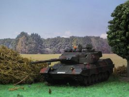 Leopard 1A5 at treeline by Baryonyx62