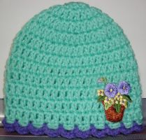 Minty Blooms Newborn Hat by Crochet-by-Clarissa