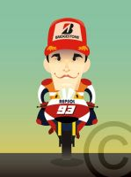 Marc Marquez by Fabricadecaricaturas
