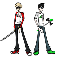 Dave and John by pixelat0ry