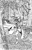 Red Riding Robin Hood lines by MichaelHoweArts