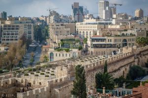Old City Walls and Mamilla, Jerusalem by Eliweisz