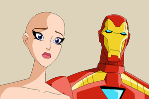 Iron Man and OC base by Raygirlbases