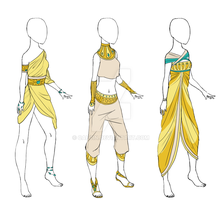 Egyptian Clothes [Adoptable] [#1 Open] by Caecin