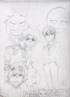 Soul Eater Boys by pegisisterswag