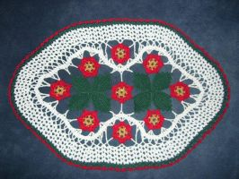 Christmas doily 3 by ladytech