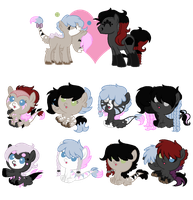 MLP:Twin Obsidian Breedable Foals -CLOSED- by kiananuva12