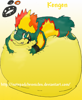 -New OC Kengen the Typhlosion- by Puffed-Up