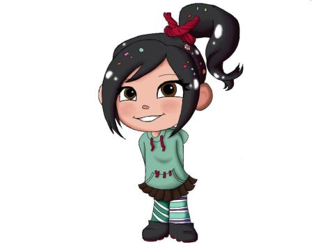 Vanellope Von Schweetz by 13Black-Queen-Star13