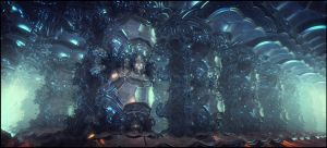 Alien Cryo Chamber by dakonoco