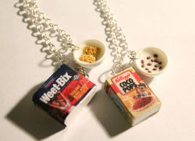 Cereal Necklaces - Weet-Bix and Coco Pops by ChroniclesOfKate
