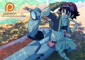 Eva from Oban star racers by xong