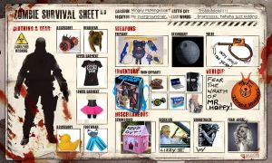 Zombie Survival Sheet by blue-but-beautiful