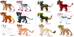 Big Cat Cub Adoptables by KoyukitoriGirl