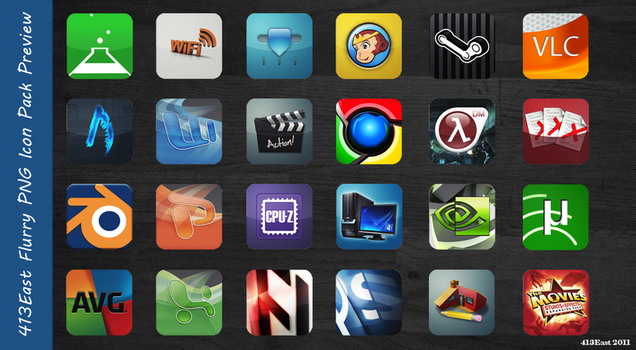 Flurry Icon Pack Preview by 413East