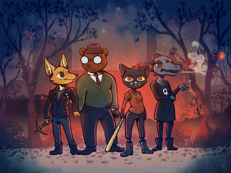 Night in the Woods by Firequill