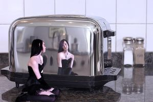 Makeshift Mirror by thethumbelinaproject