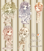 :PC: Sketch Commish Batch by x3urara