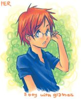 boy with glasses by herhuahed