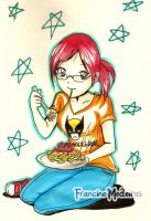 Marjan and Pasta by theredprincess