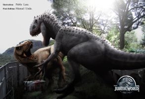 JURASSIC WORLD  EPIC BATTLE by MANUSAURIO