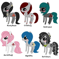 Adoptables PonyPires[SOLD] by HeartRoyali