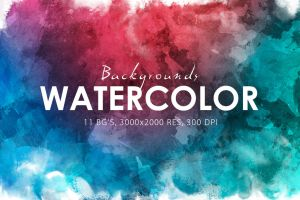 Watercolor Backgrounds by Freezeron